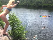 Cliff Jumping At Terrace Pond