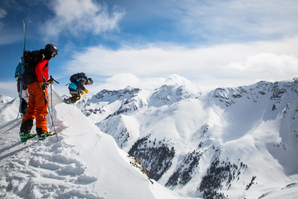 Howell advises starting where you're comfortable when it comes to skiing steeps.