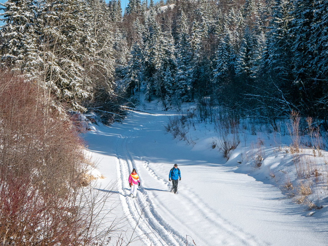 Take a stroll in the snow on these beautiful Park City trails.