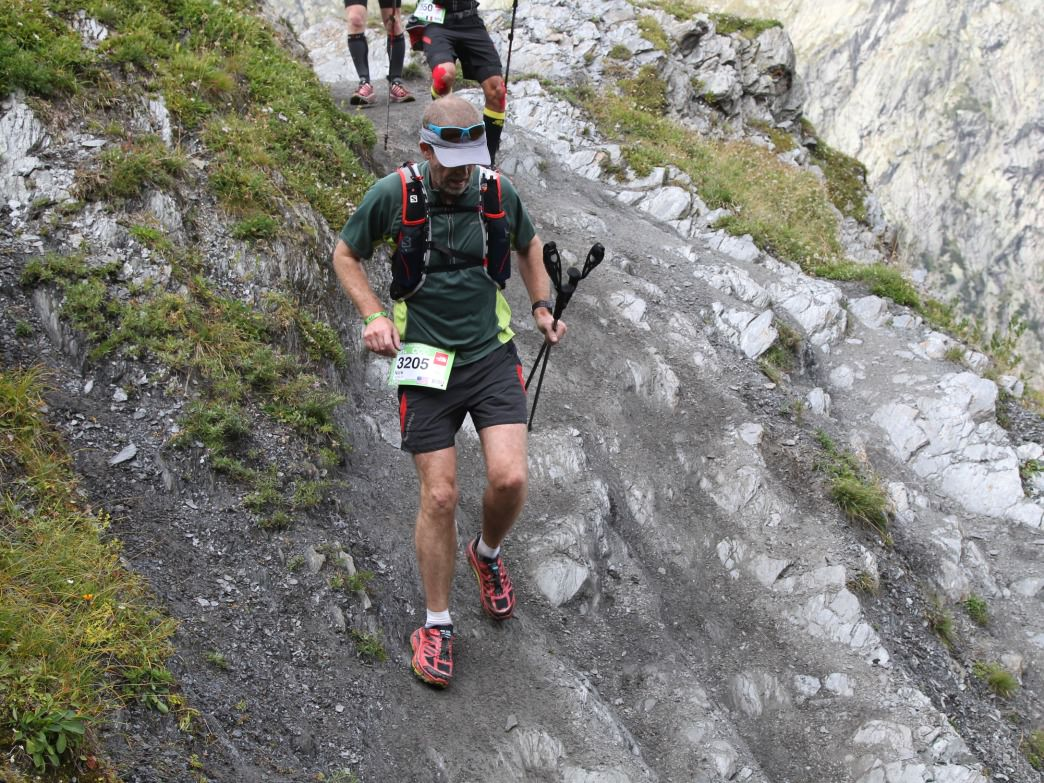 Nick Yardley running in the 2014 CCC: Courmayeur Champex Chamonix