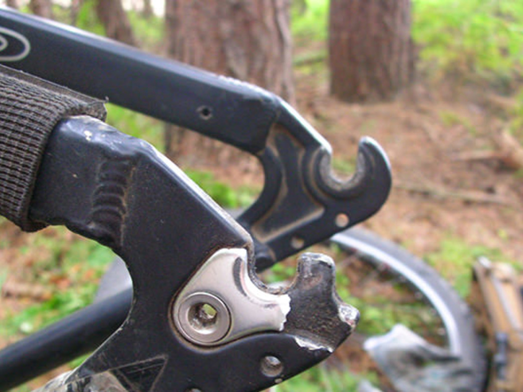 Derailleur hangers -- don't leave home without one extra!