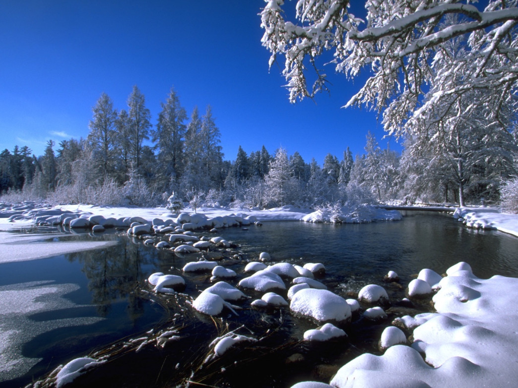 The Itasca State Park is a beautiful place to explore in the winter.
