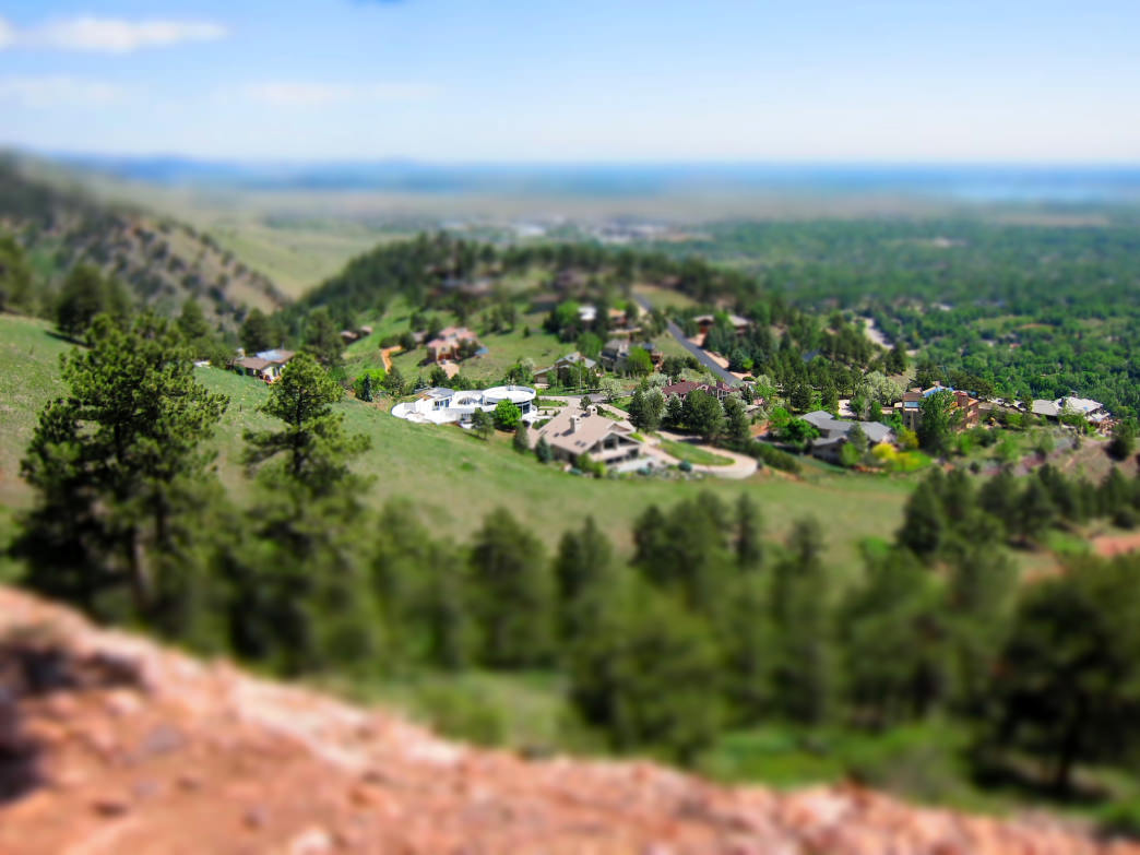 The view from the top of Mt. Sanitas is one of the best in Boulder.