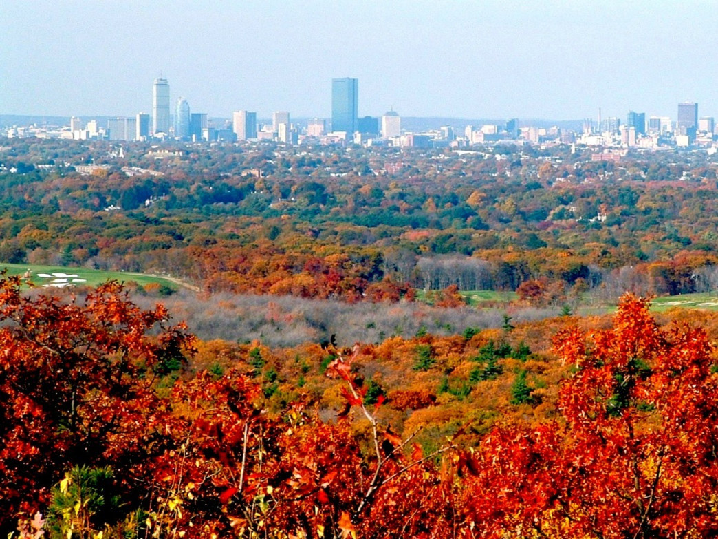 A view of the Boston city skyline from Blue Hills Reservation