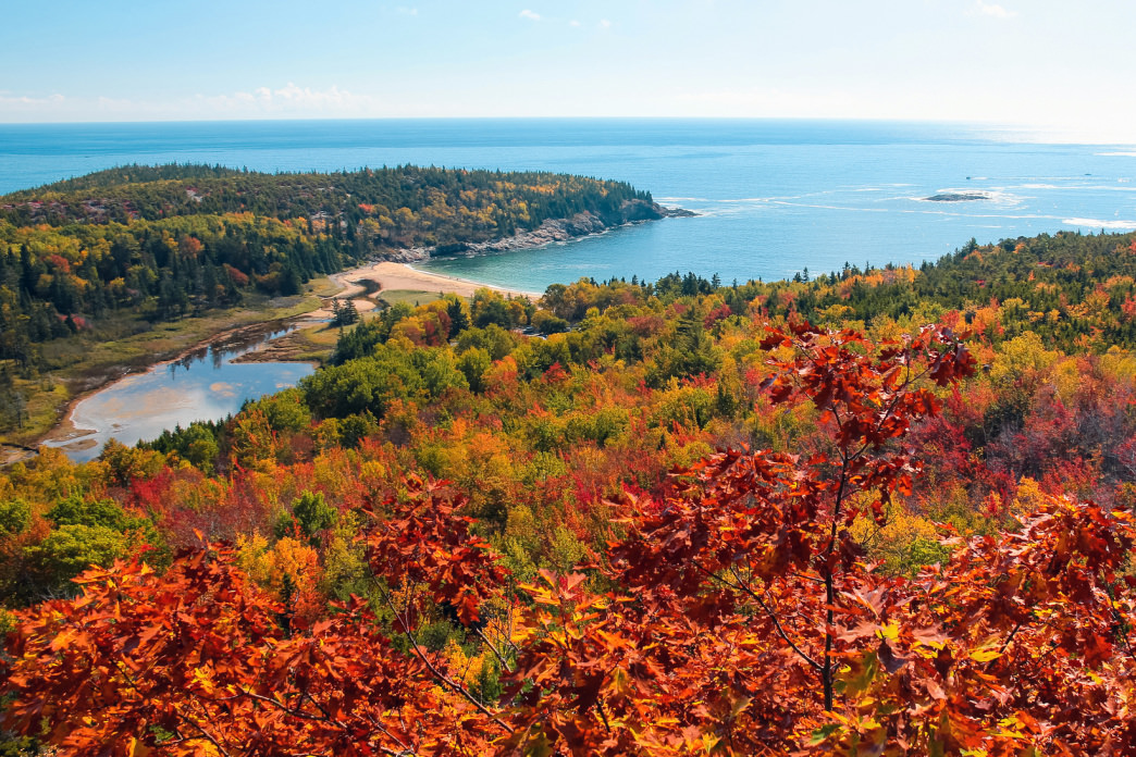 Acadia National Park is especially beautiful in the fall.