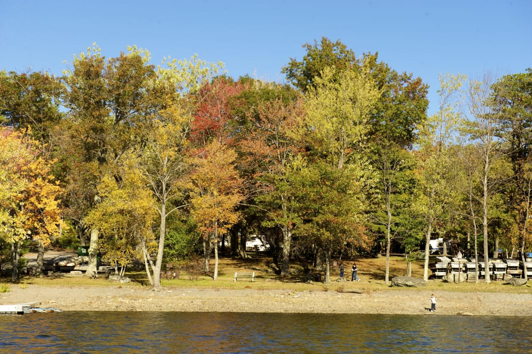 Catch the fall foliage at Lake Wallenpaupack