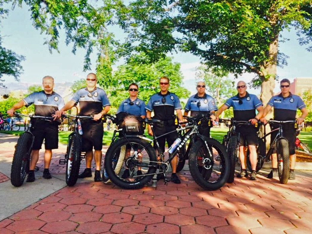 The Colorado Springs Police Department's Bike Patrol gets in on Bike Month fun.