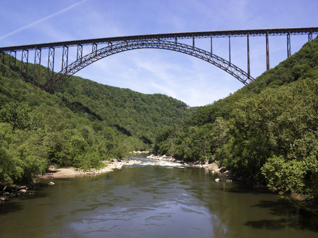 The New River Gorge Bridge.