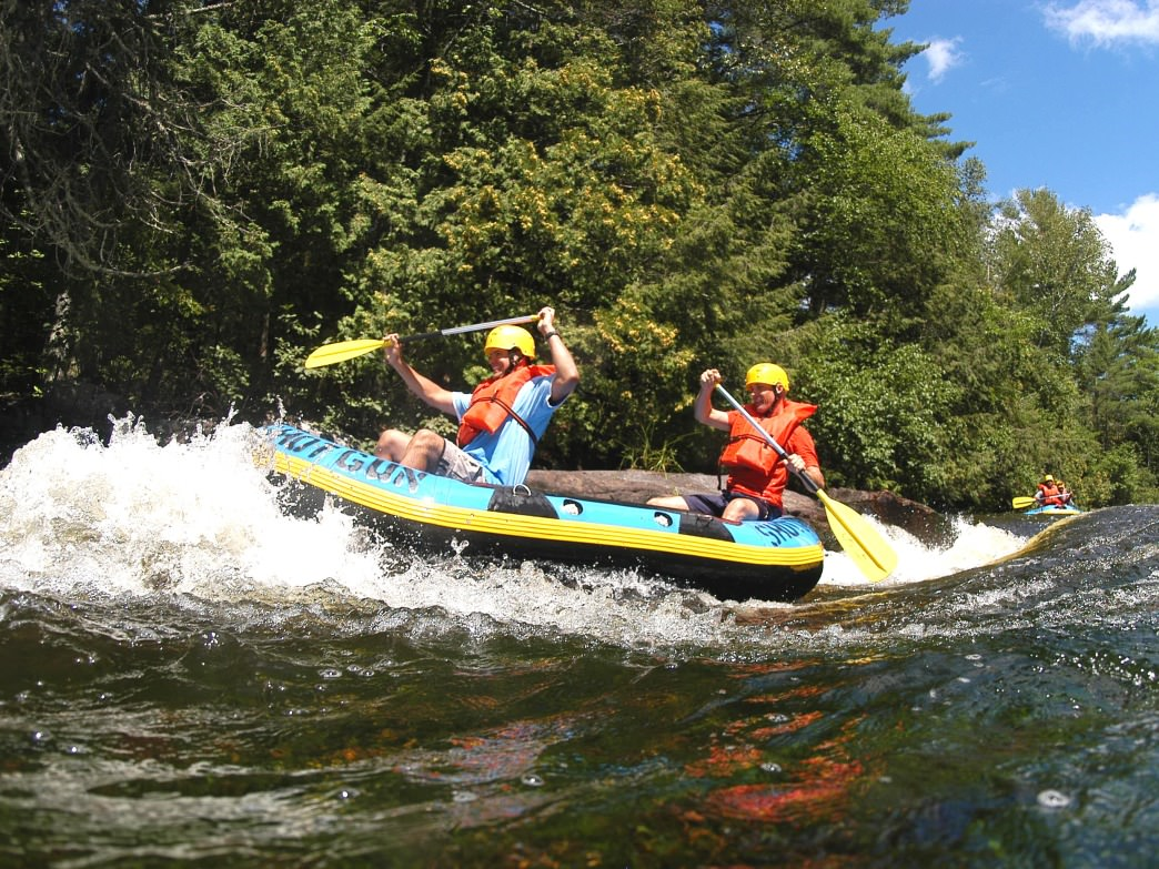 Whitewater Rafting on the Wolf River in Wisconsin.
