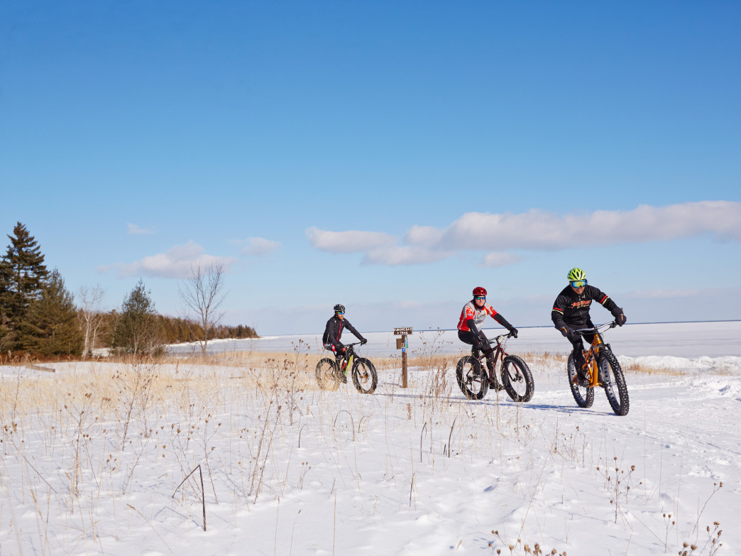 Newport State Park has a 2-mile loop dedicated to fat-tire biking.