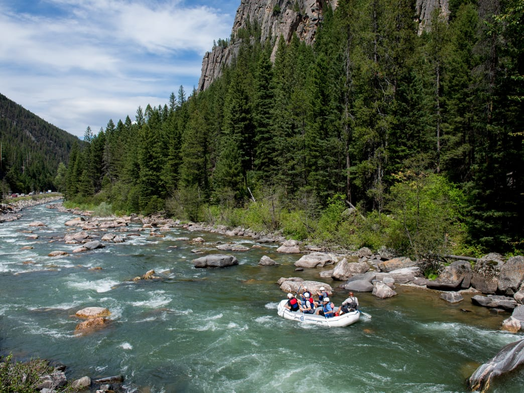 Take a whitewater rafting trip on the Gallatin River.