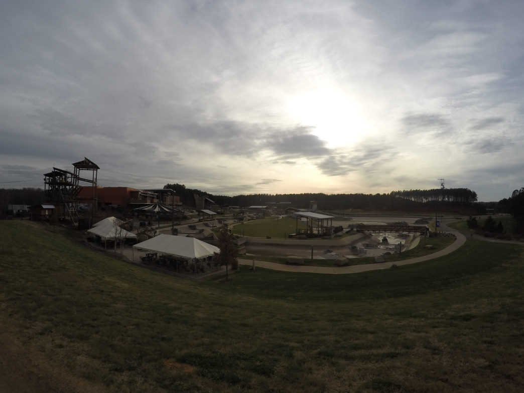 Even while the river's drained, there is no off season for the USNWC's team.