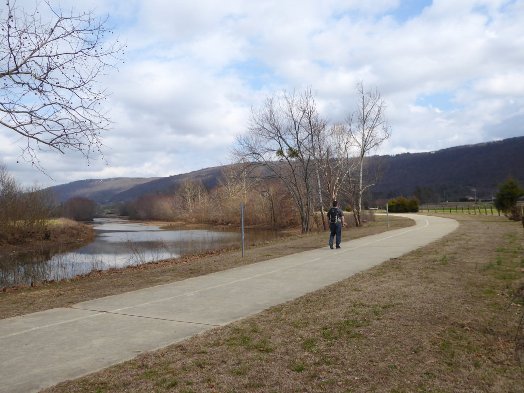 Hiking the southern section of the Aldridge Creek Greenway.     Marcus Woolf