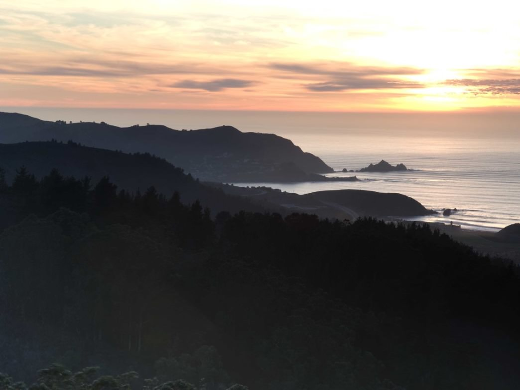 The Tk-mile Bay Area Ridge Trail features views like this.