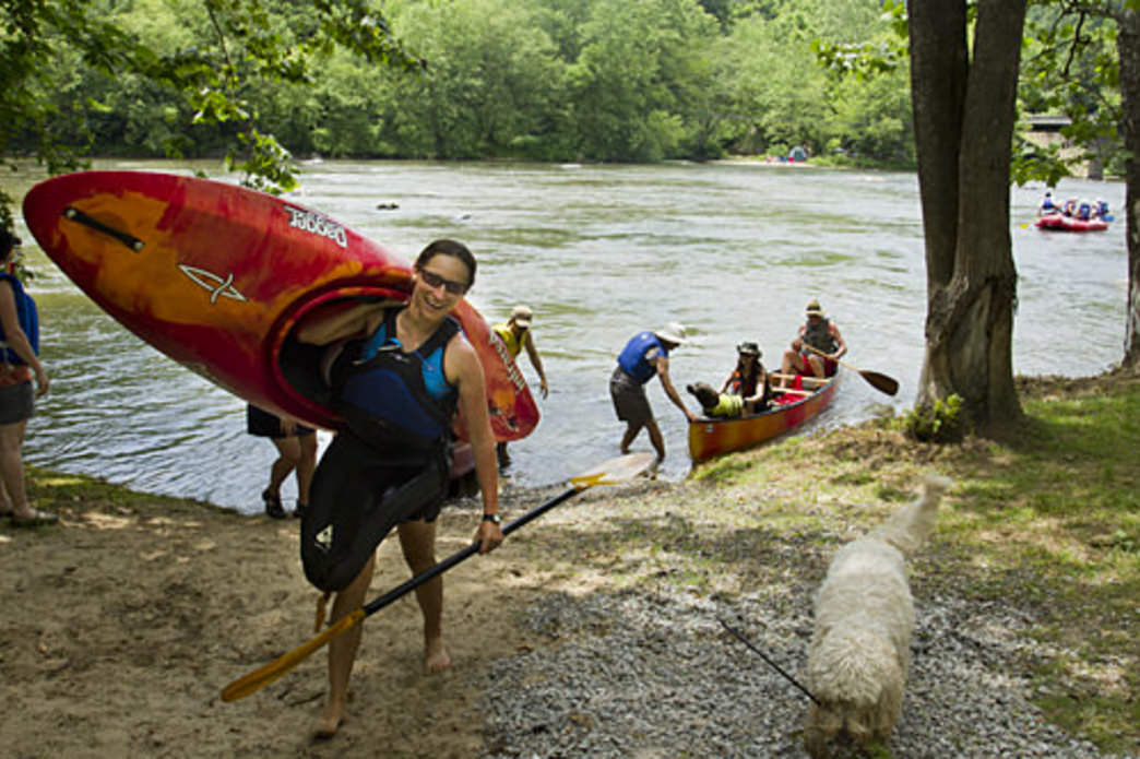 Boaters on the French Broad, Courtesy of Joanne Sullivan