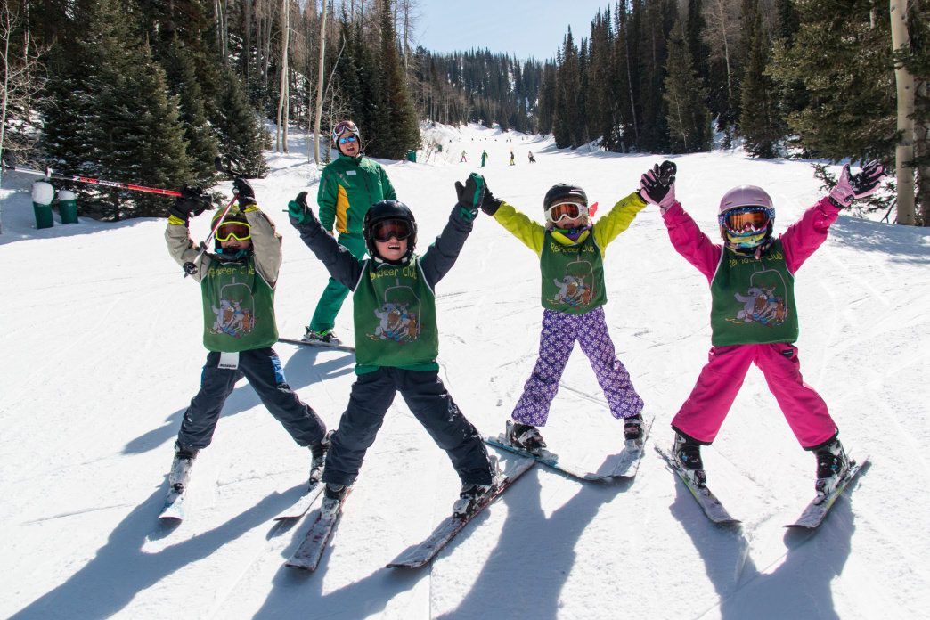 The Deer Valley Ski School keeps the kids entertained while teaching them the sport.