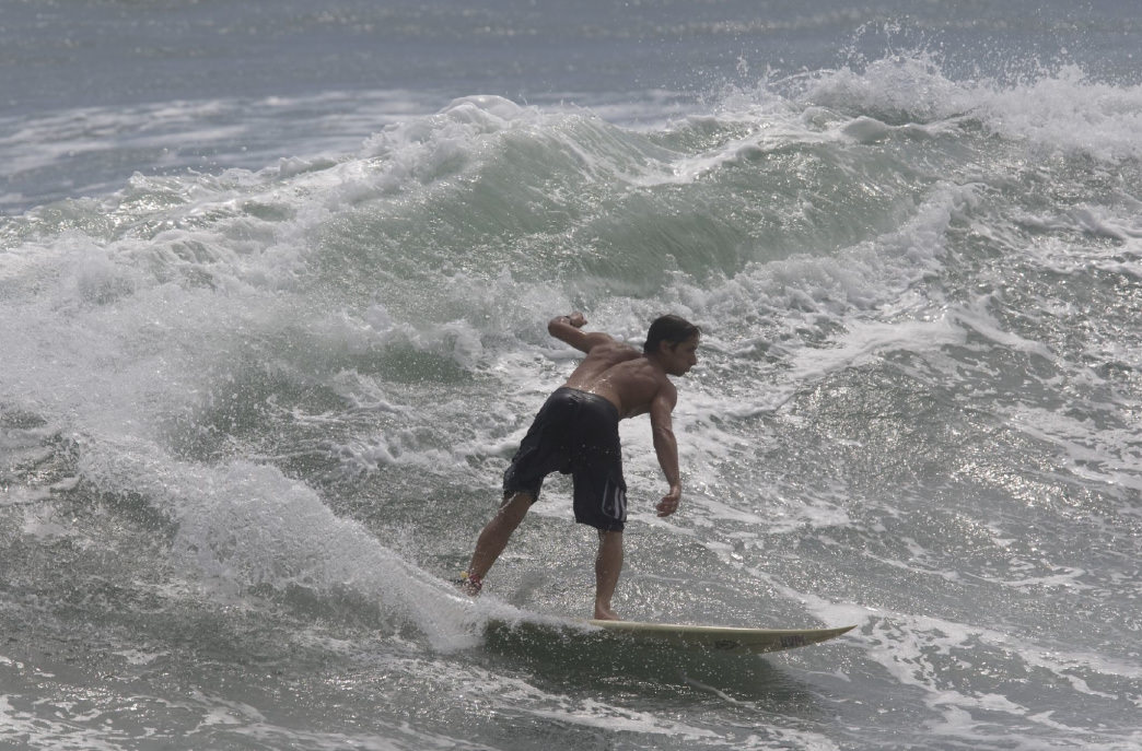 When the waves are right, surfers are drawn to the Crystal Coast.