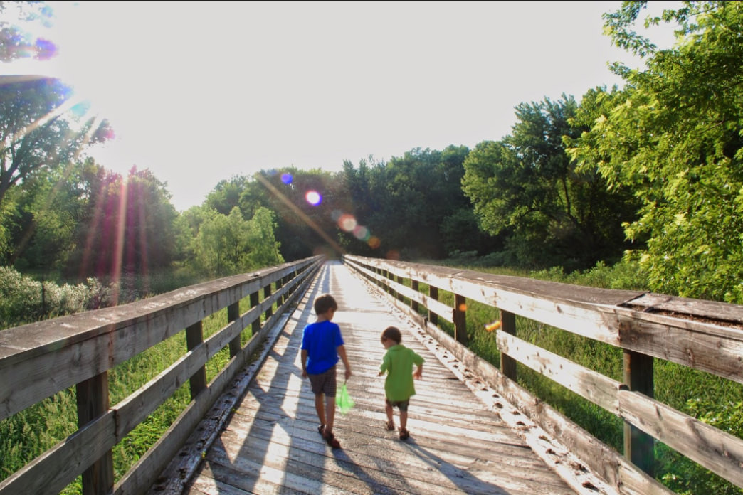The trails in the La Crosse Marsh Area make for an easy ride, and the boardwalk through the marsh makes for an easy walk, too.