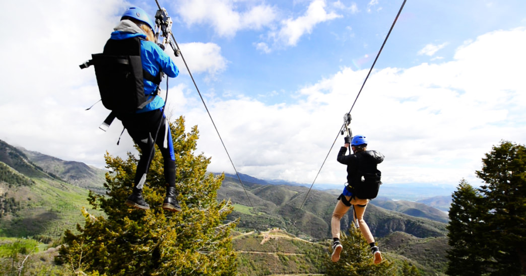 A zipline ride at the Sundance Mountain Resort may be the most memorable part of your trip.