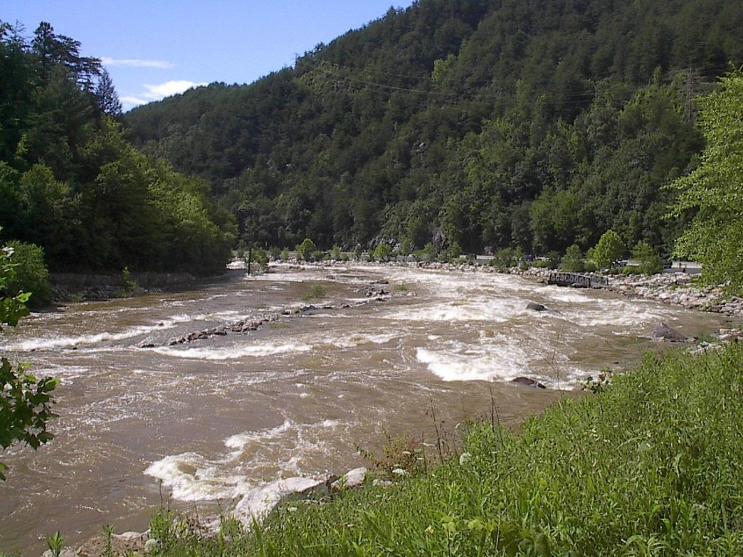 The Ocoee River provides a scenic backdrop for the Thunder Rock 100