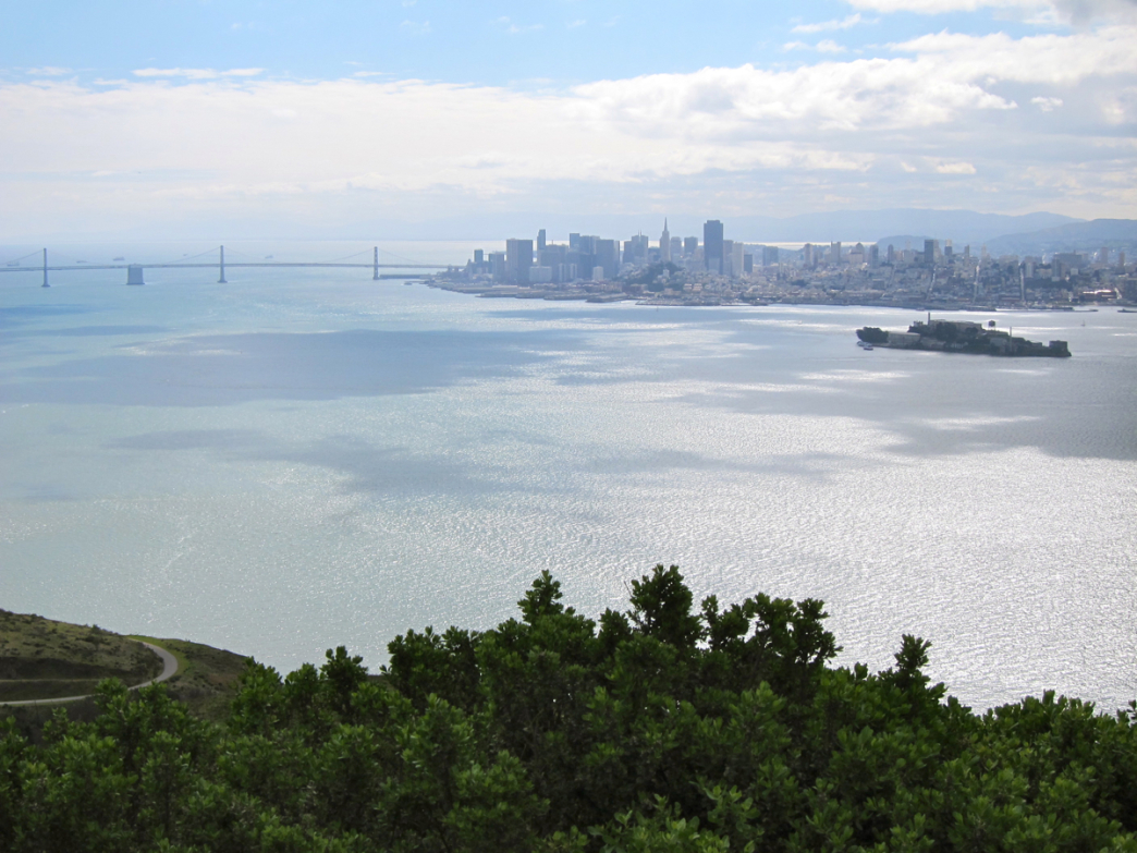 The San Francisco skyline from the summit of Mt. Livermore.