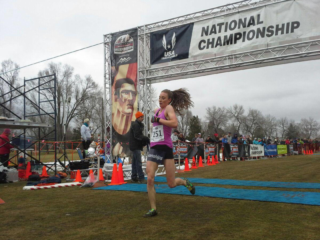 Elise Cranny wins the Junior Women's 6k.
