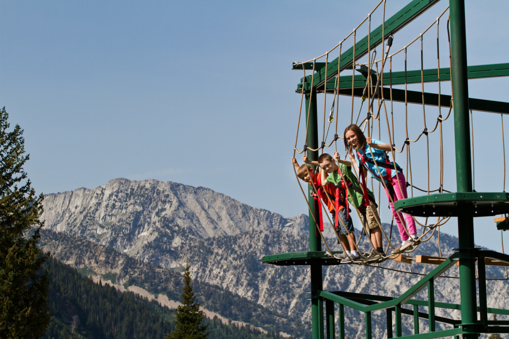 At the Snowbird ropes course, there's no surcharge for the view.