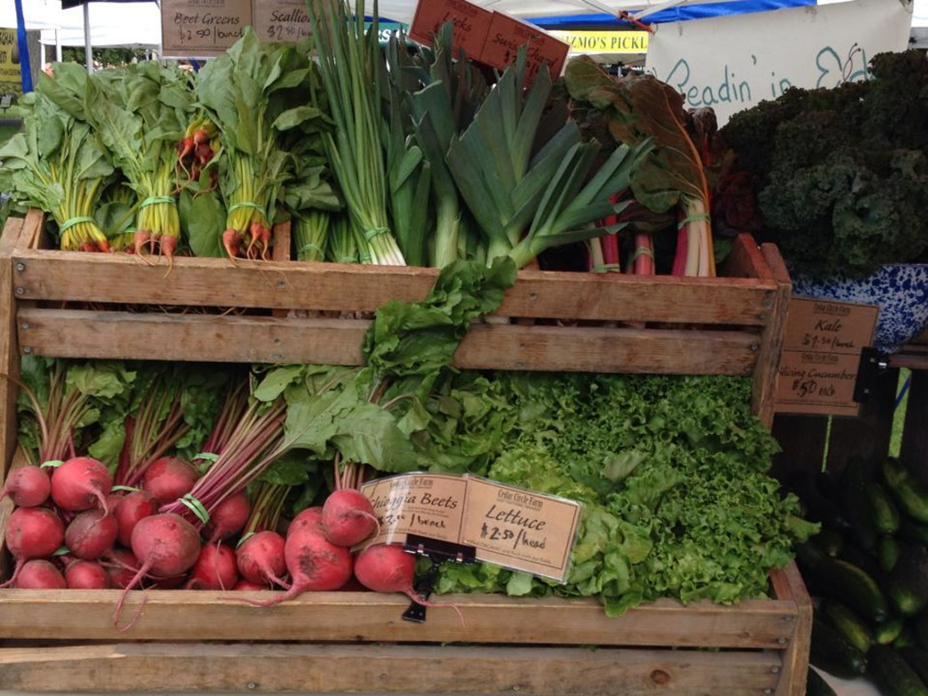 Buy fresh veggies and greens from local farmers at the year round Lebanon Farmer's Market.
