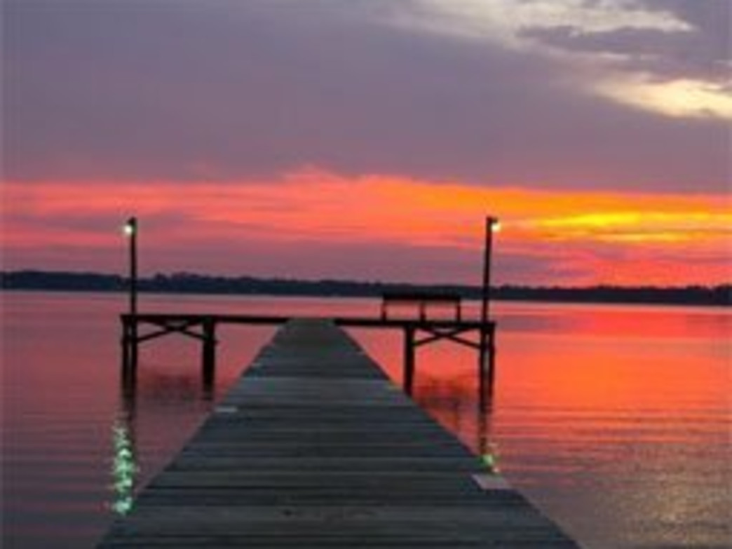 Perdido Bay provides beautiful sunsets during the evenings on the calm waters.