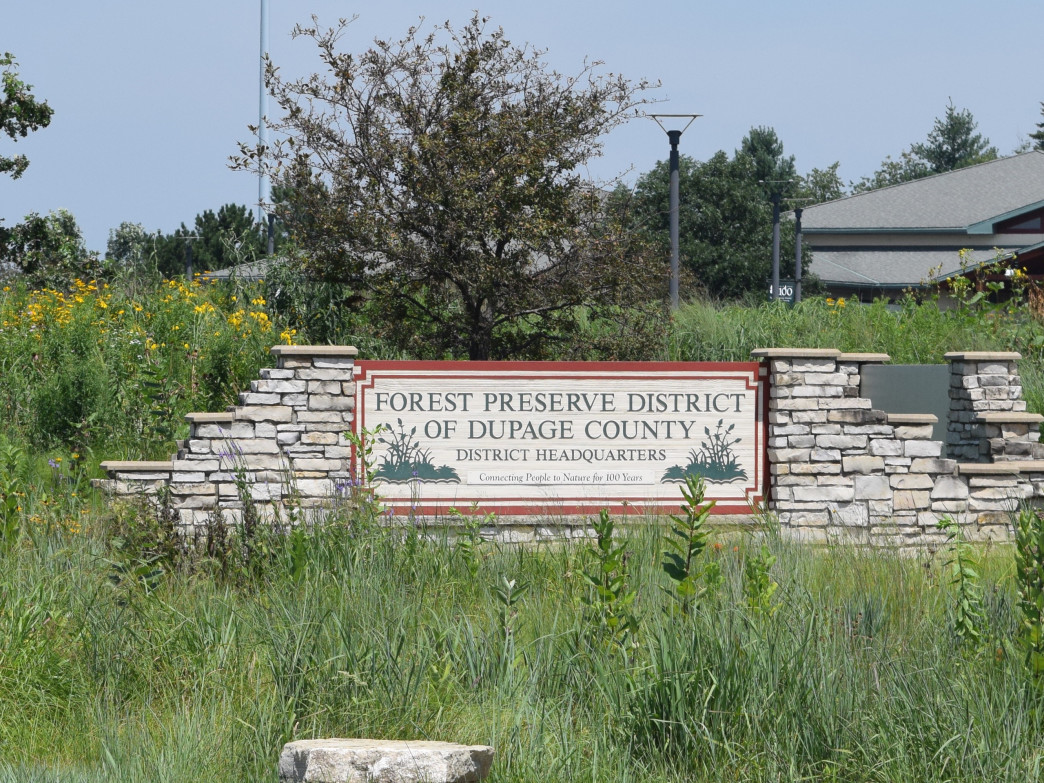 The DuPage Forest Preserve headquarters in Wheaton is a good place to join the Century Trail.