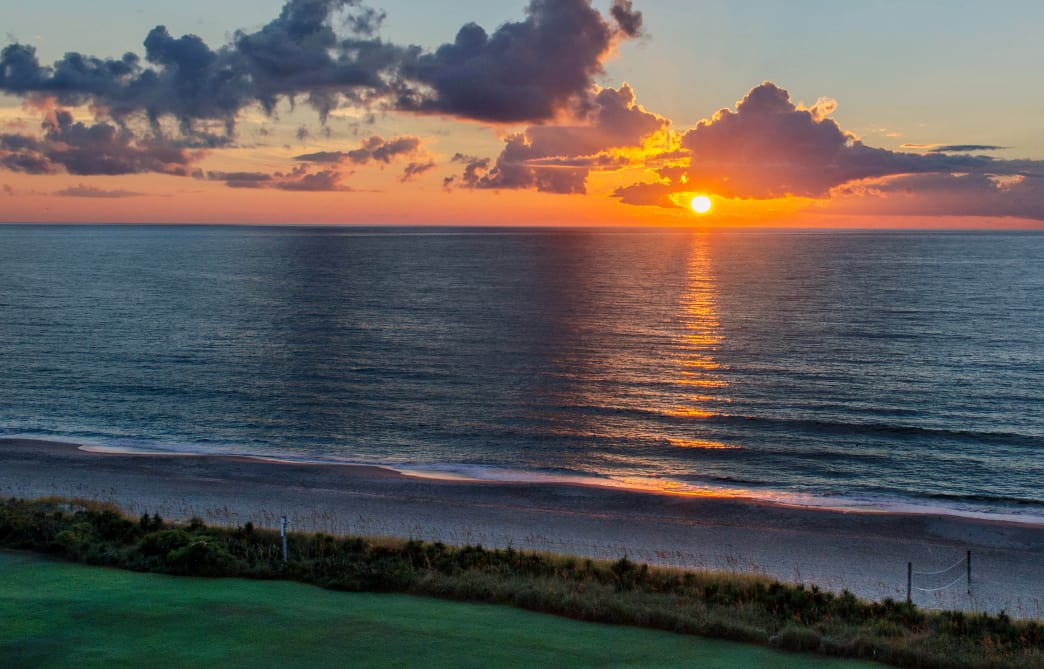 Enjoy the sunrise view from Blockade Runner Resort. J Guthrie