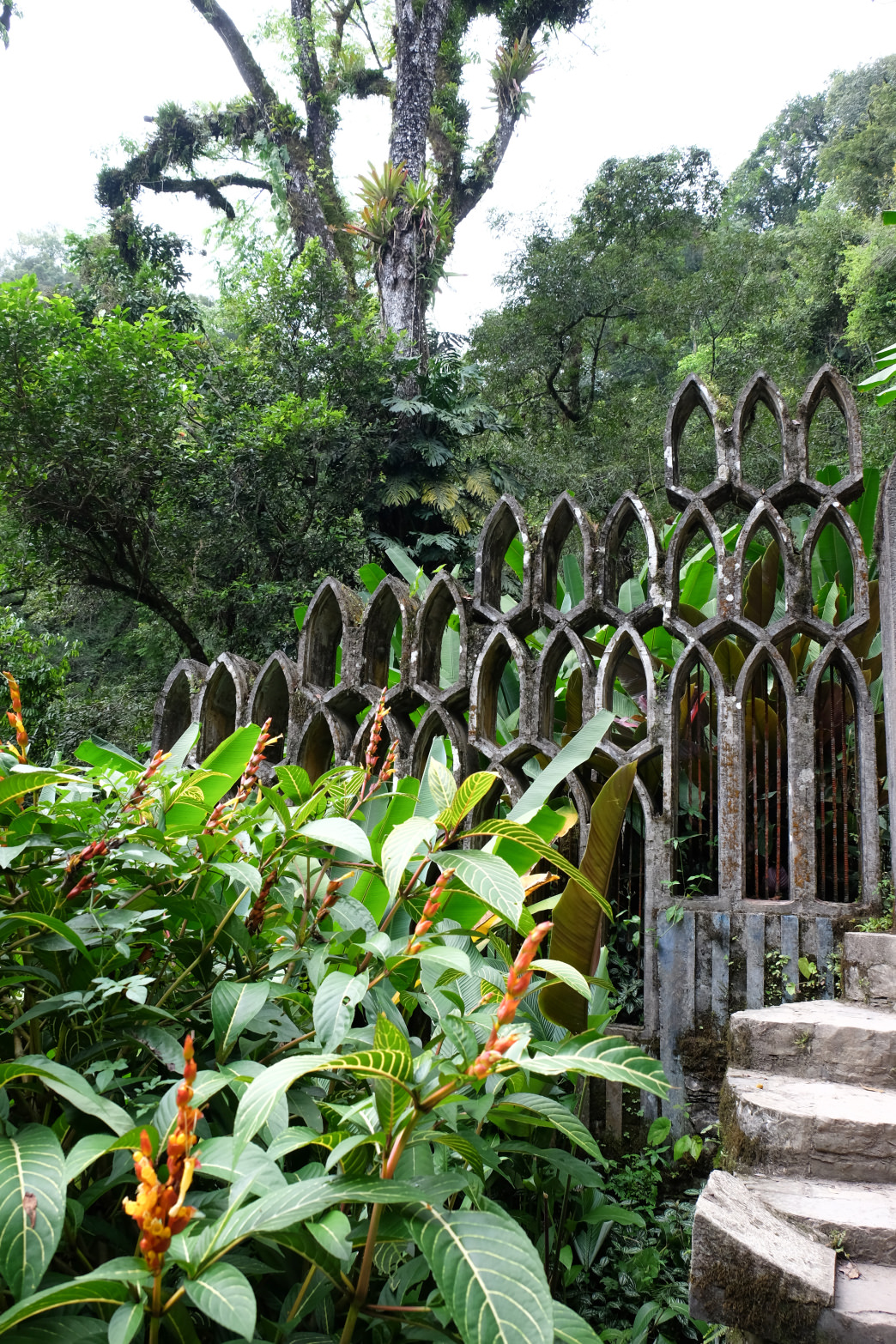 Gothic arches in the garden of Las Pozas.