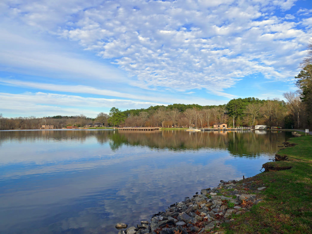 Go for a loop around Rankin Lake and start and finish in downtown Gastonia.