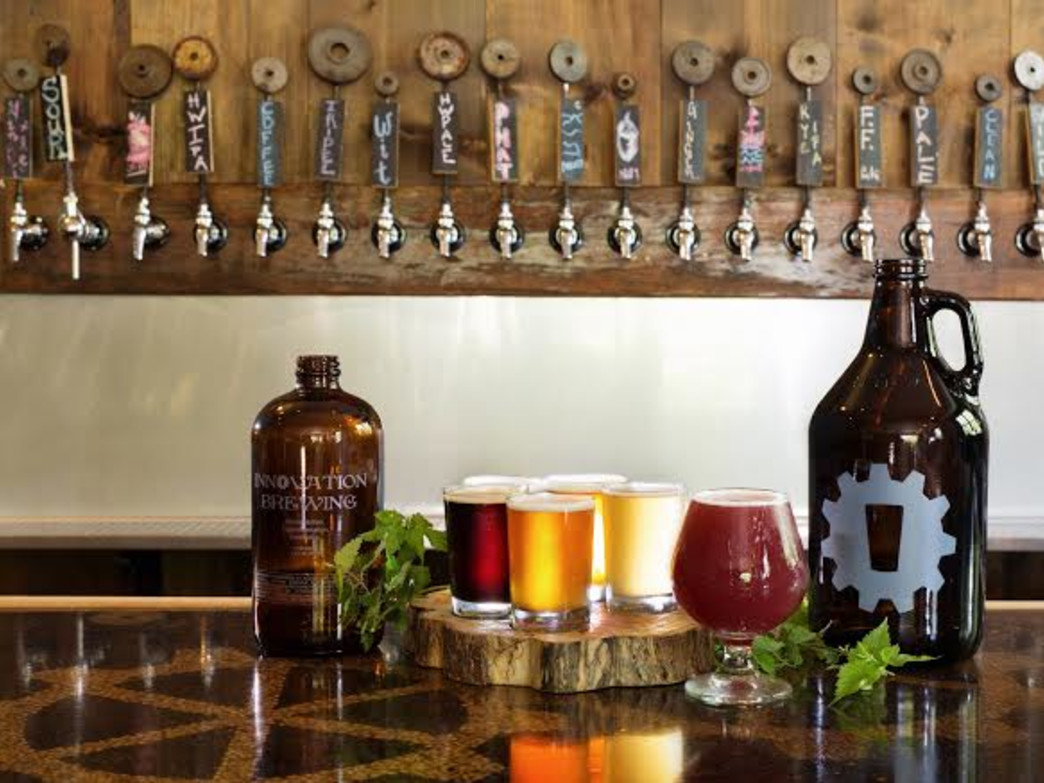 The selection of beers at Innovation Brew are eclectic and delicious.