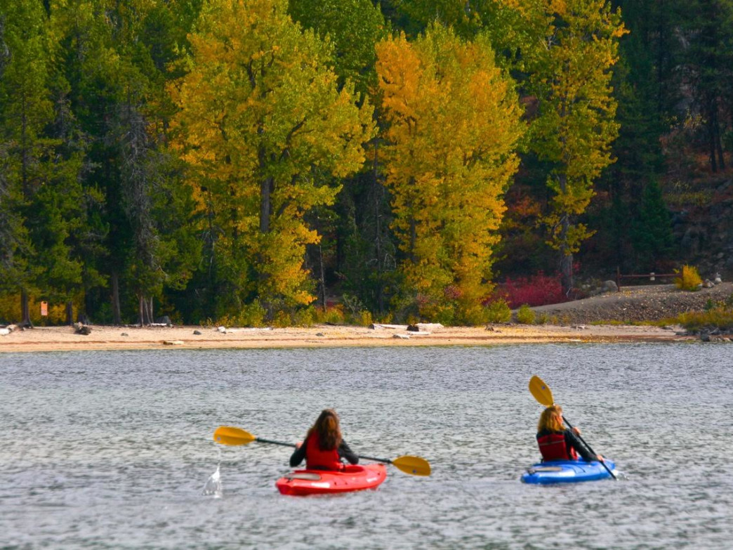 Hop in a boat and paddle around to see the best of the fall colors around Boise.