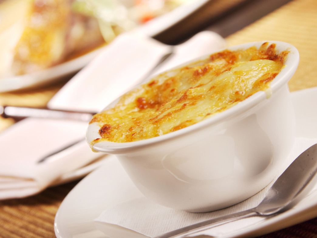 For one of the best apres-ski deals, head to Rustique Bistro for French onion soup.
