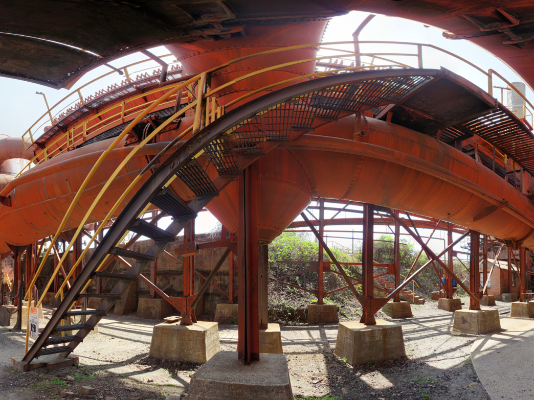 The beautiful metal structures at Sloss Furnaces, a resolute symbol of Birmingham's history