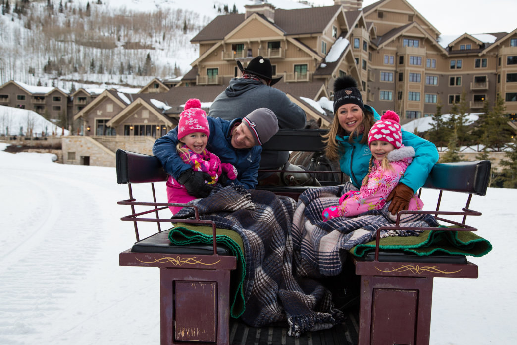 There is nothing like a sleigh ride to delight the family.