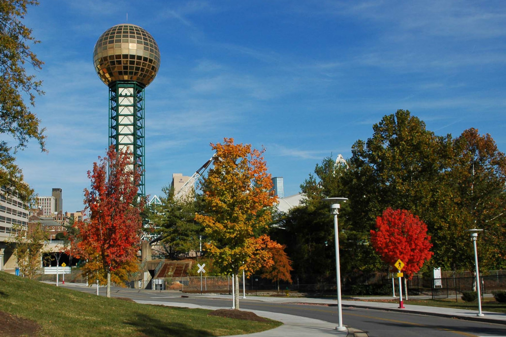 The Sunsphere in Knoxville was built for the 1982 World's Fair.