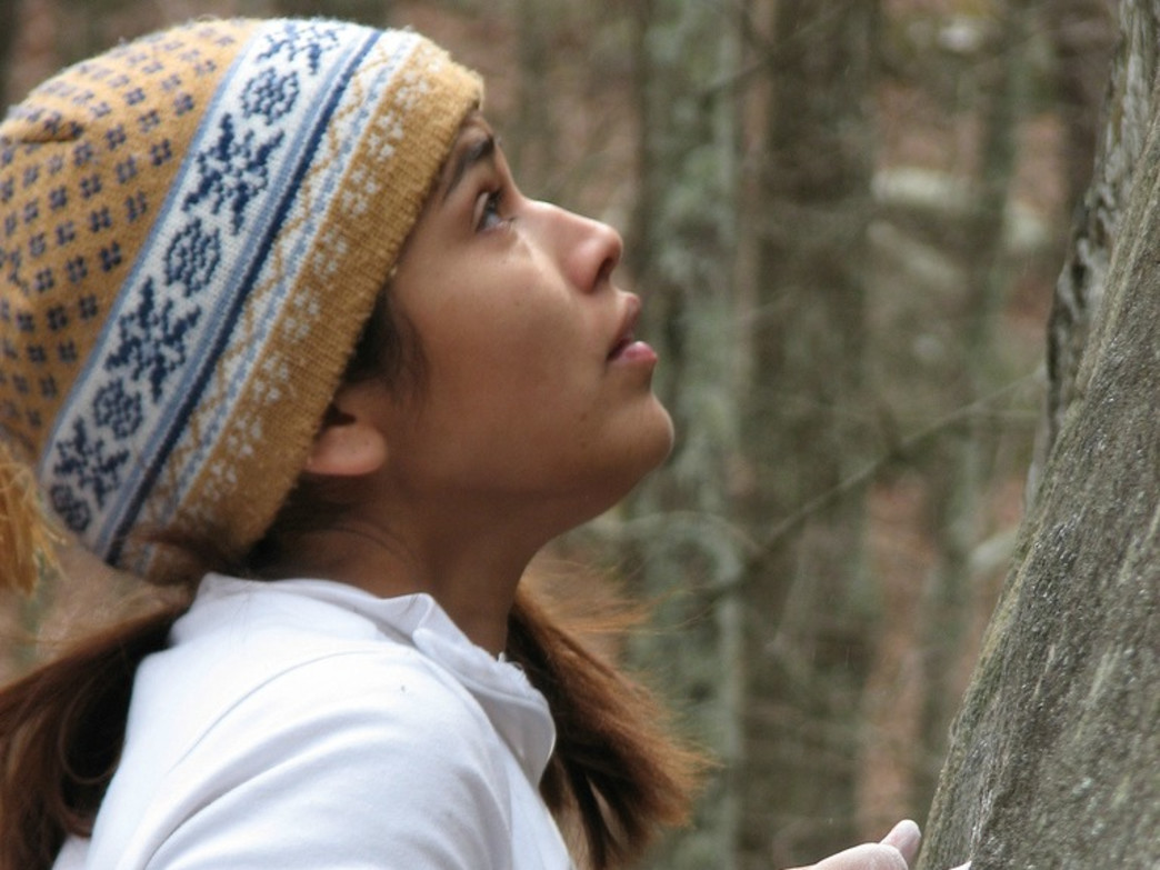 Intense focus at Horse Pens 40's world-renowned boulder field