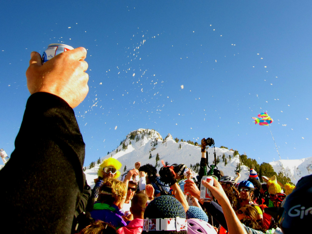 Raise a glass (or a can) to awesome shindigs to celebrate the end of season, like High Boy at Alta.