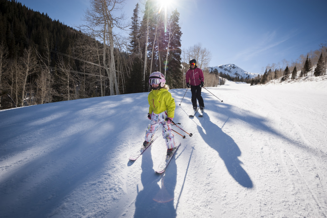Beginners have their choice of a wide variety of green runs near both base areas.