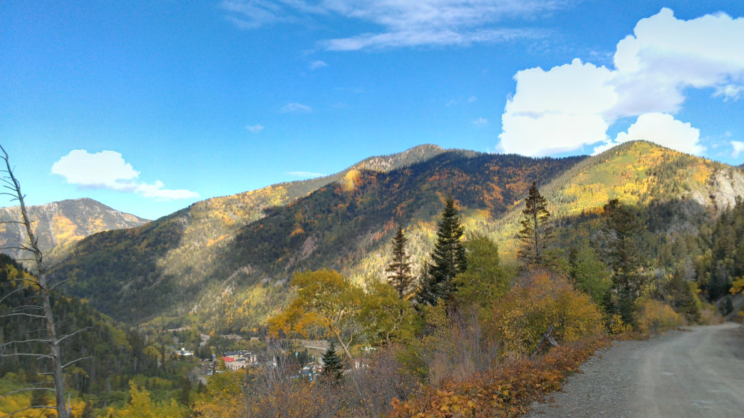 Fall colors in Taos Ski Valley, New Mexico.