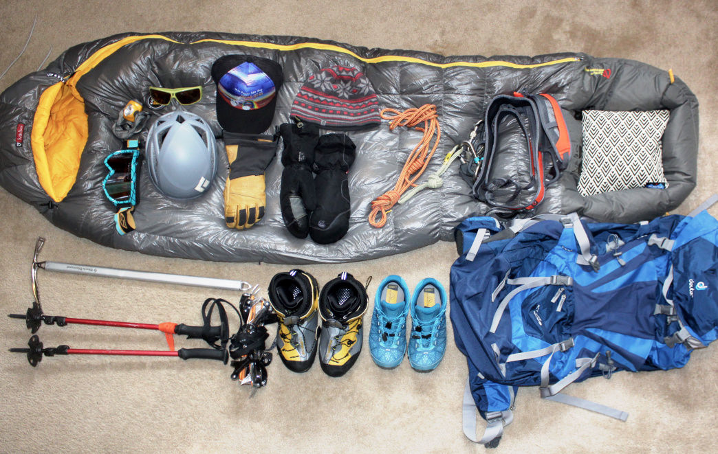 Before your trip, lay out all your gear and use a checklist to make sure you've got everything you'll need.