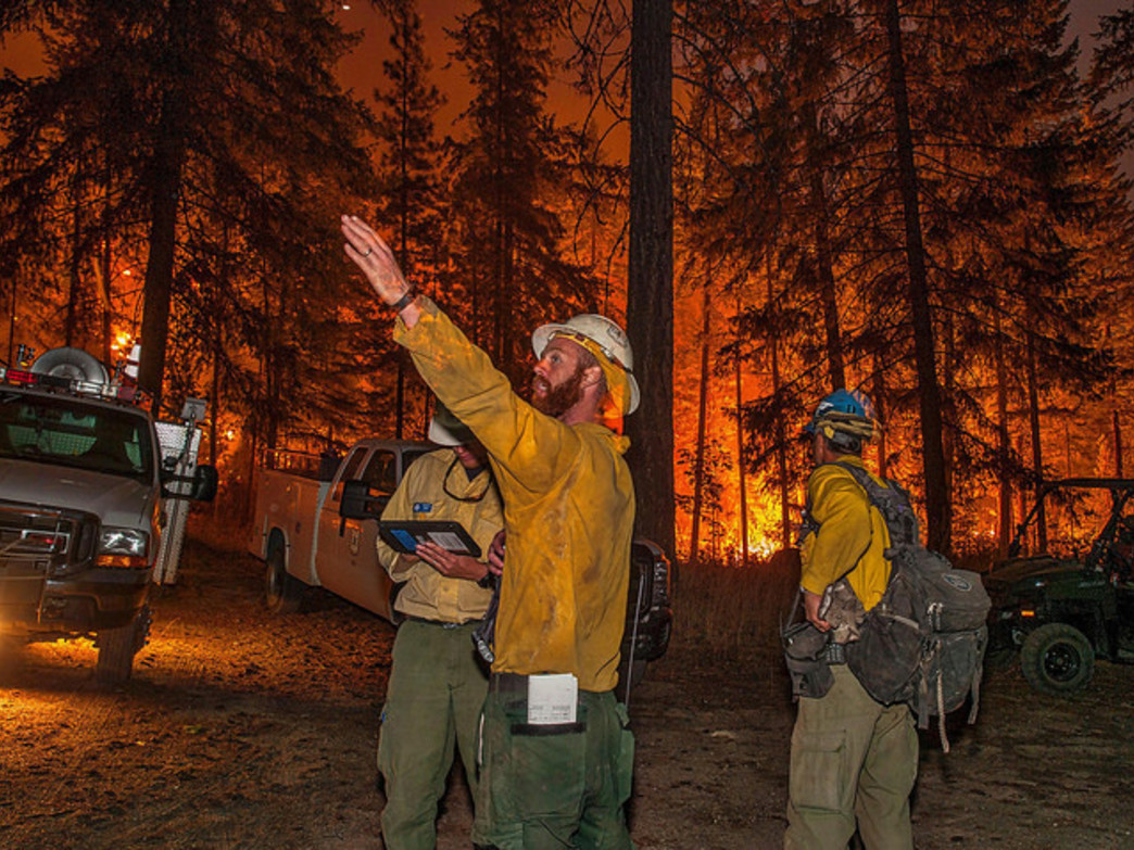 Firefighters are working round the clock to contain the Washington wildfires.