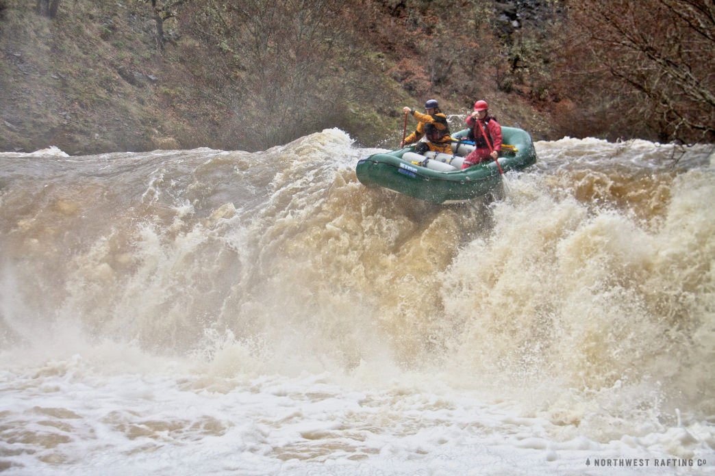 Rafting the Little Klickitat at 1200 cfs.