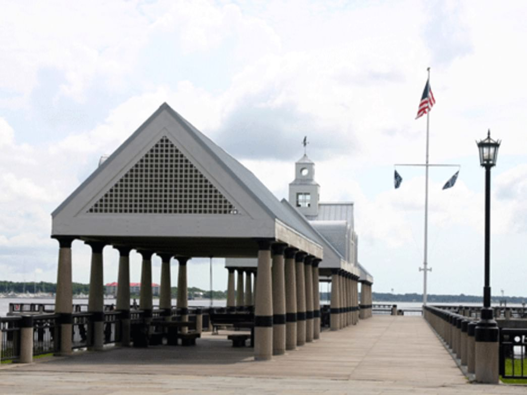 Standing on Charleston Waterfront Pier and looking toward the city gives you a feel of being in the 1700s.
