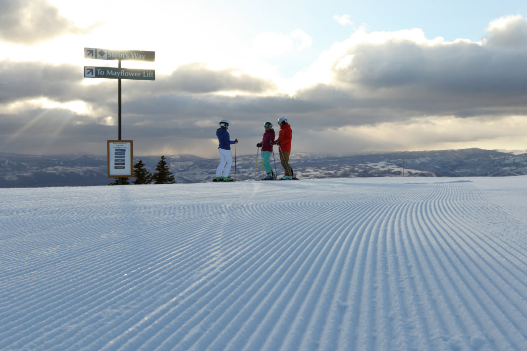 Start the day with some groomed trails at Deer Valley Resort.