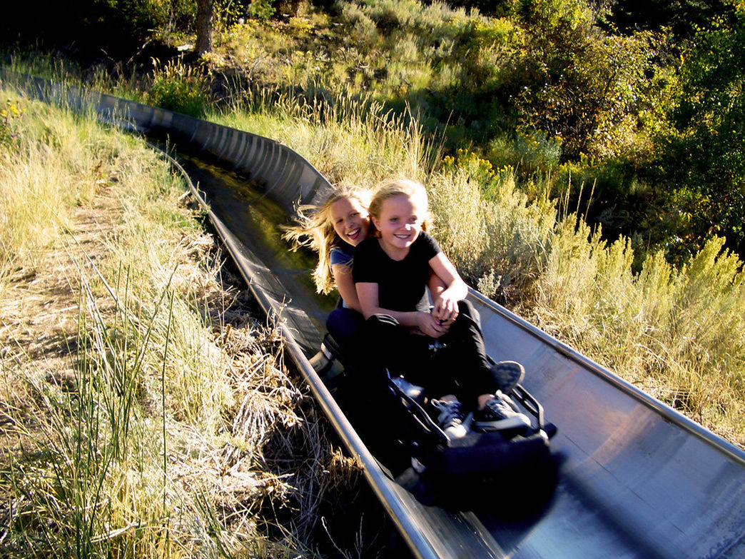 The Alpine Slide doesn't reach the speeds of the bobsled, but it's a fun ride down the mountain.