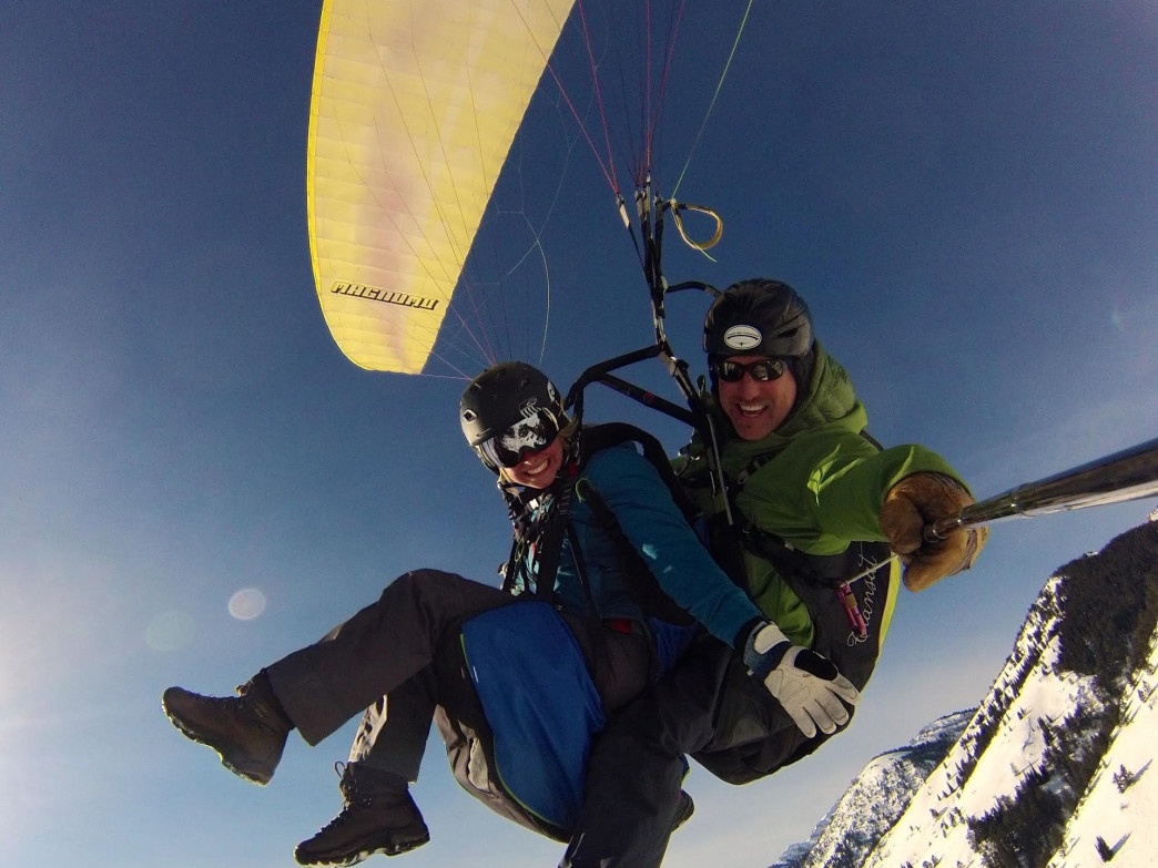 Leap from a mountain and check out the sights on a paragliding adventure.